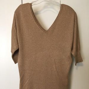Express Tops - Gold Tunic